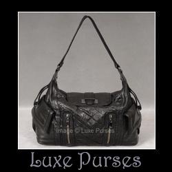 5b8b0c32e165 Treesje Marseille Black Leather Hobo - Luxe Purses