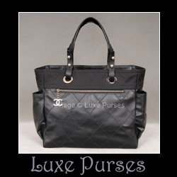 31df3770ebd084 Chanel Paris Biarritz Tote - Black - Luxe Purses
