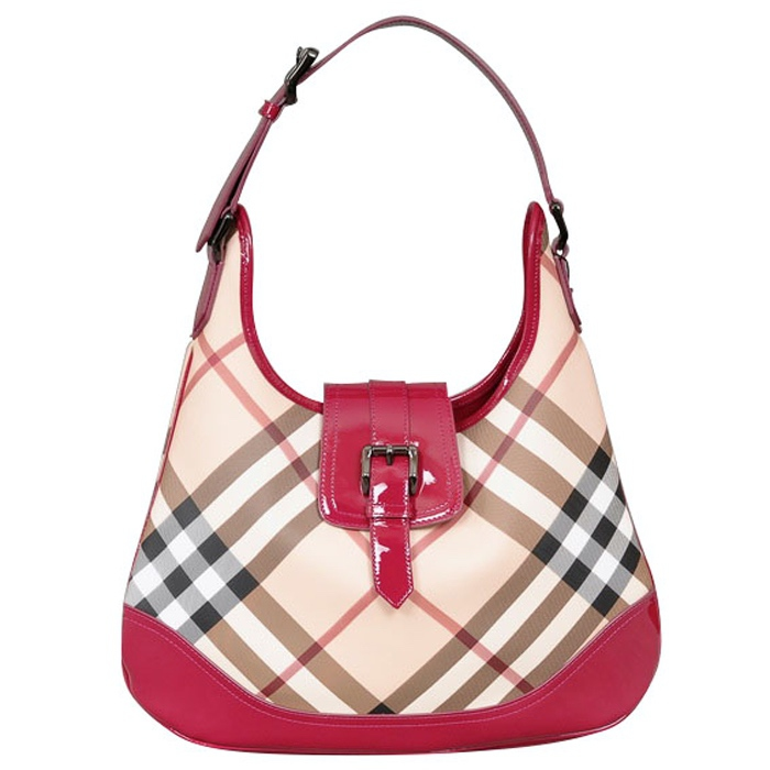 Burberry Nova Check Brook Hobo