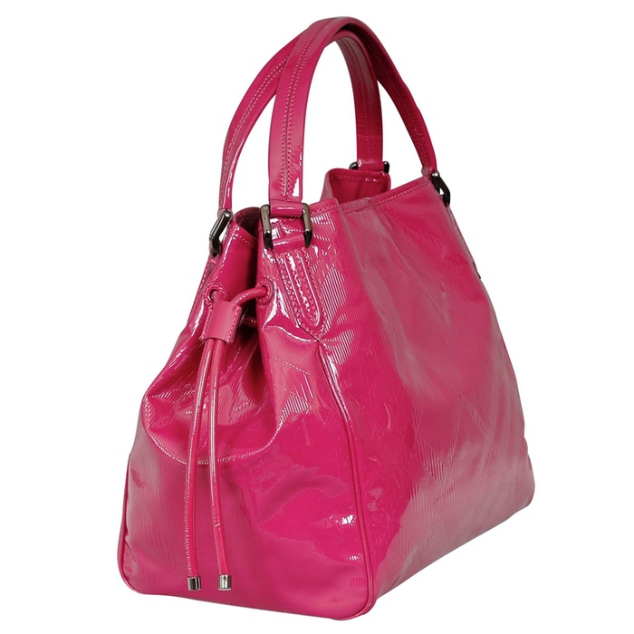 Burberry Bilmore Patent Leather Tote