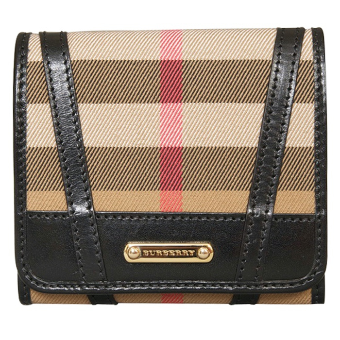 Burberry Bridle House Check Leighton Wallet