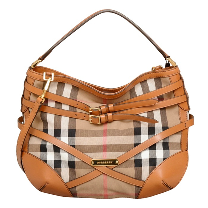 23dd5c1eabe0 Burberry Bridle House Check Dutton Hobo - Luxe Purses