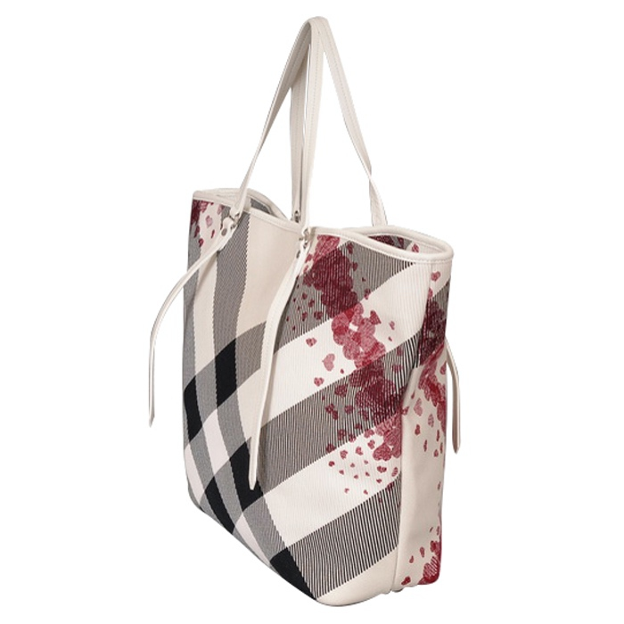 Burberry Cantley Confetti Hearts Large Tote