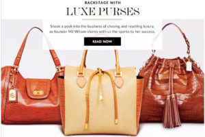 Luxe Purses featured on Reebonz
