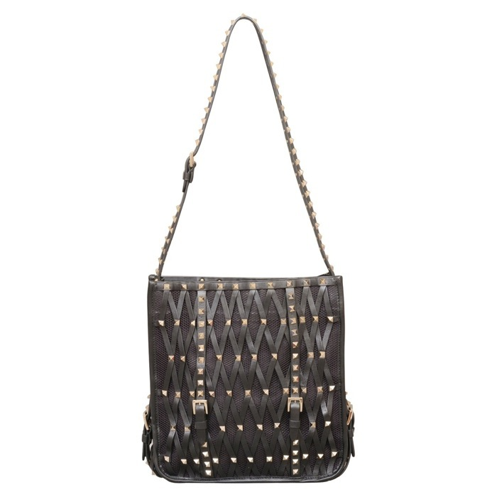 Valentino Rockstud Lattice Shoulder Bag at Luxe Purses
