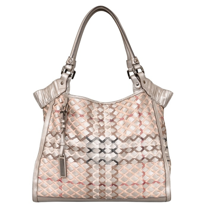 Burberry Covington Tote in Nova Check Silver