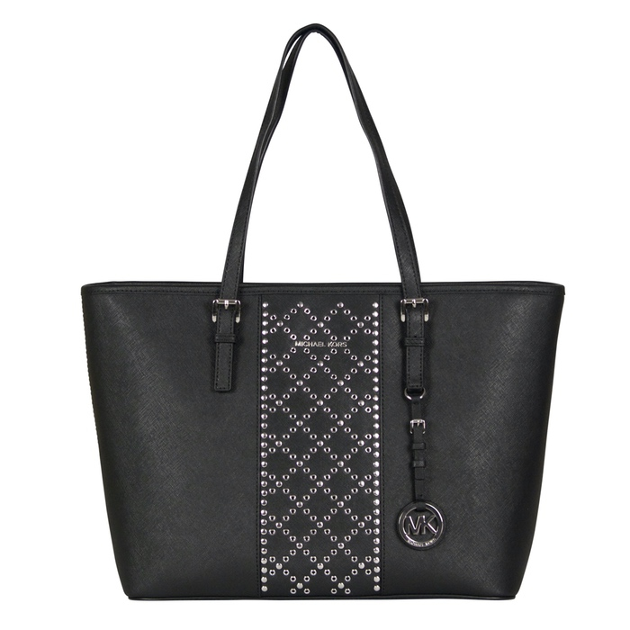 Michael Kors Jet Set Travel Top Zip Tote in Black