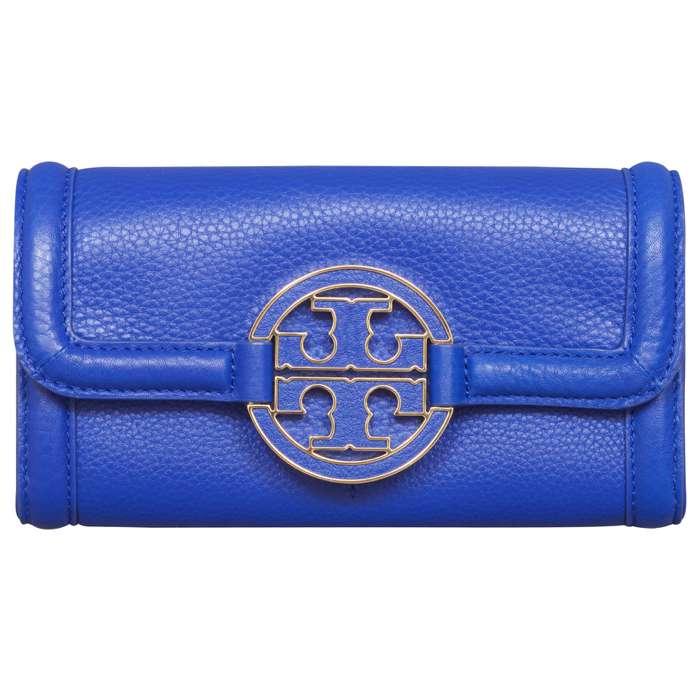 Tory Burch Amanda Envelope Wallet in Jelly Blue