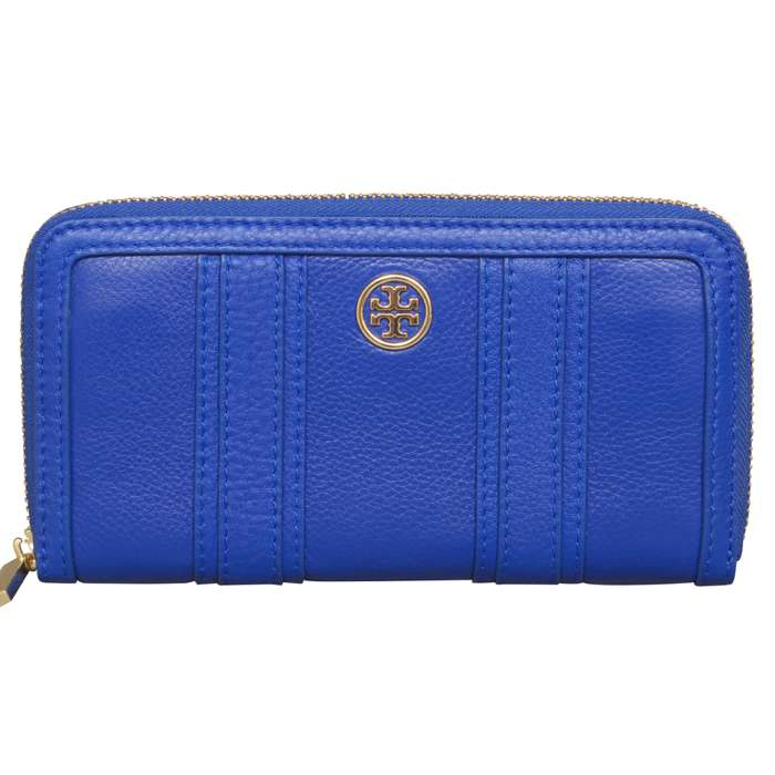 Tory Burch Landon Continental Wallet in Jelly Blue