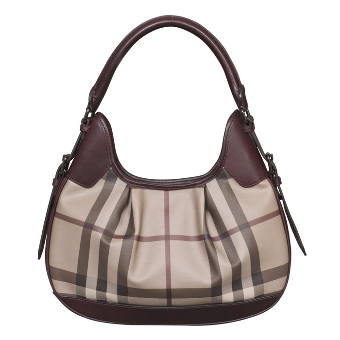 Burberry Smoked Check Brooklyn Hobo