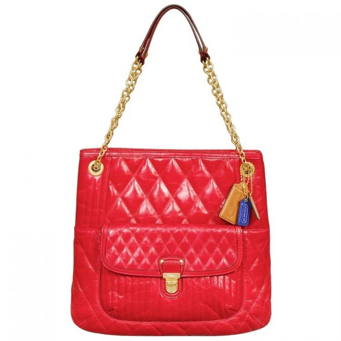 Coach Poppy Quilted Leather Slim Tote