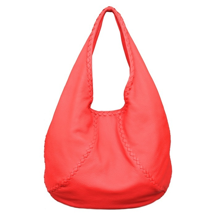 Bottega Veneta Washed Cervo Bag in New Red