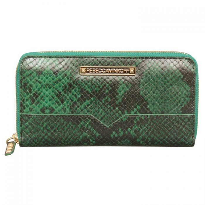 Rebecca Minkoff Large Zip Wallet in Teal