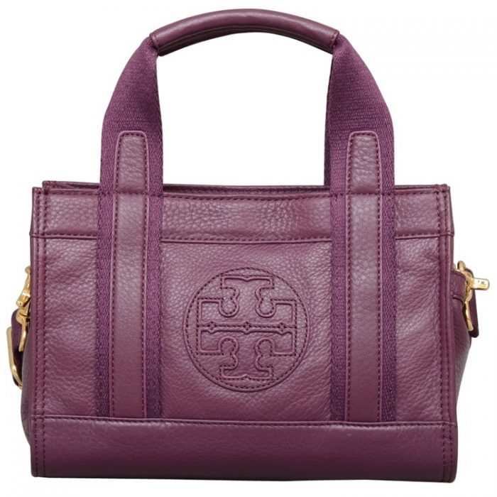 Tory Burch Tiny Tory Tote in True Violet