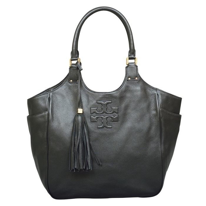 Tory Burch Thea Round Tote in Black