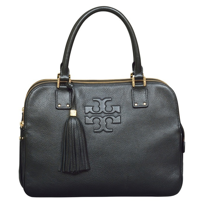 Tory Burch Thea Triple Zip Satchel in Black