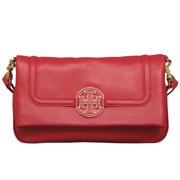 Tory Burch Amanda Foldover Crossbody in Kir Royale