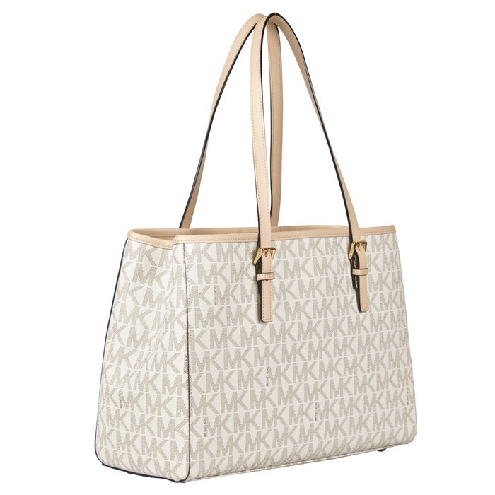 Michael Kors Large Jet Set Travel E/W Tote in Vanilla