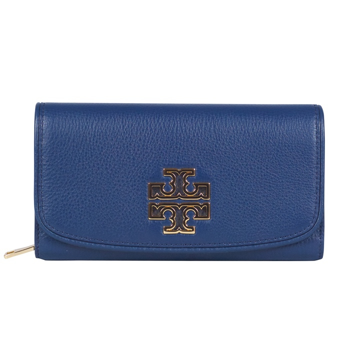 Tory Burch Britten Duo Envelope Continental Wallet in Hudson Bay