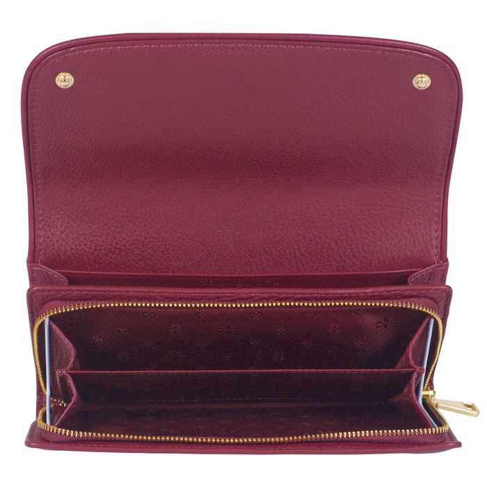 Tory Burch Britten Duo Envelope Continental Wallet in Red Agate