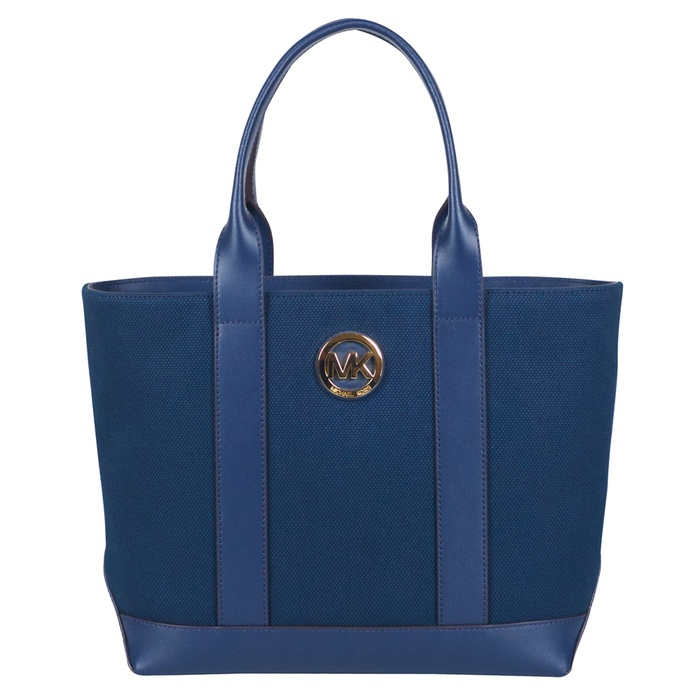 MICHAEL Michael Kors Medium Fulton Canvas Tote in Navy