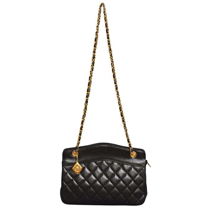Vintage Chanel Quilted Lambskin Shoulder Bag