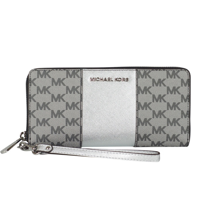 c5dc874d4719c3 MICHAEL Michael Kors Center Stripe Travel Continental Wallet