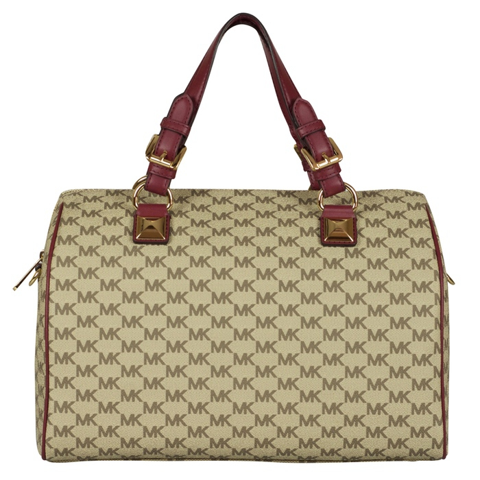 7136bd1b3469 Sale. MICHAEL Michael Kors Large Grayson Satchel in Natural Mulberry