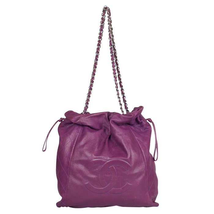 Chanel Caviar 31 Drawstring Tote in Purple from Luxe Purses
