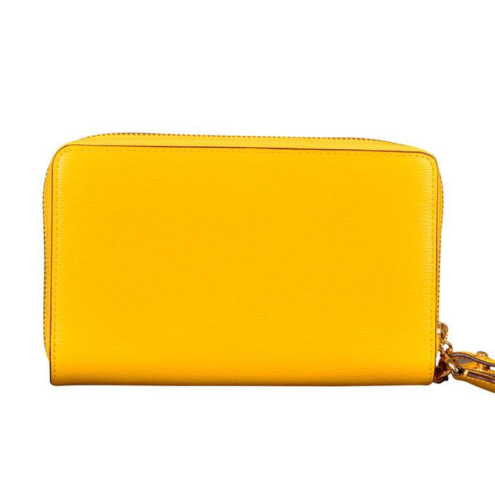 Ralph Lauren Bennington Double Zip Phone Wristlet Wallet in Sunflower at Luxe Purses