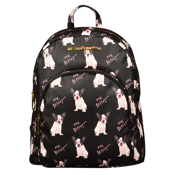 Betsey Johnson Doggy Backpack in Black at Luxe Purses