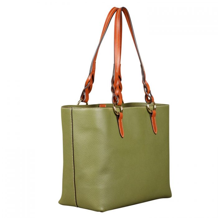 Dooney and Bourke Tammy Tote in Olive from Luxe Purses