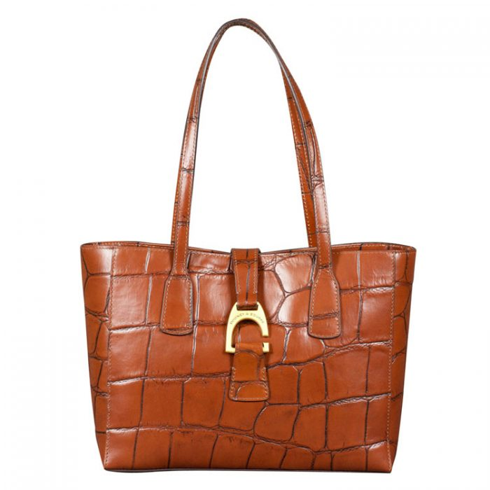 Dooney and Bourke Small Shannon Tote in Cognac from Luxe Purses