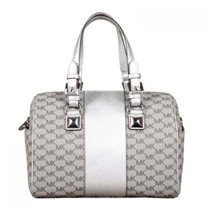 Michael Kors Medium Center Stripe Grayson Chain Satchel at Luxe Purse