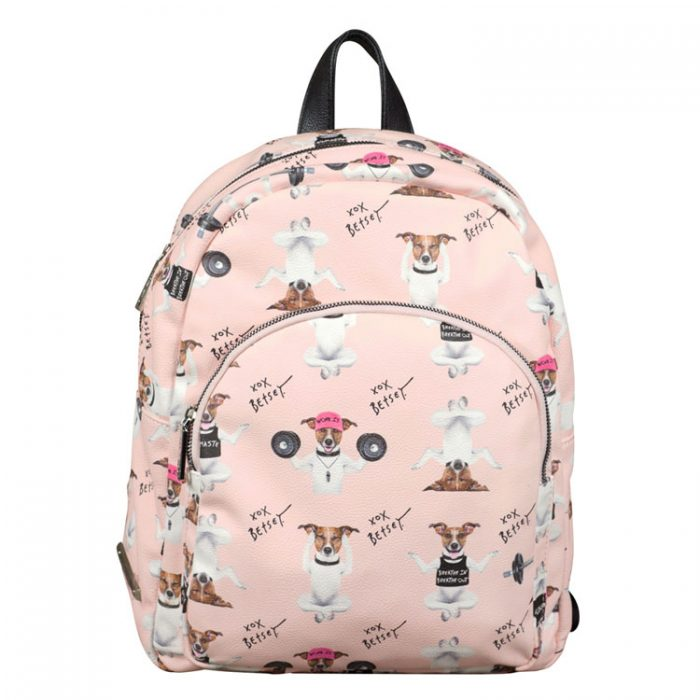 Betsey Johnson Doggy Backpack in Blush at Luxe Purses