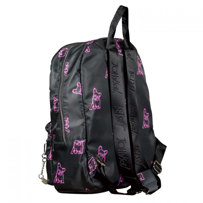 Betsey Johnson Neon Print Nylon Backpack at Luxe Purses