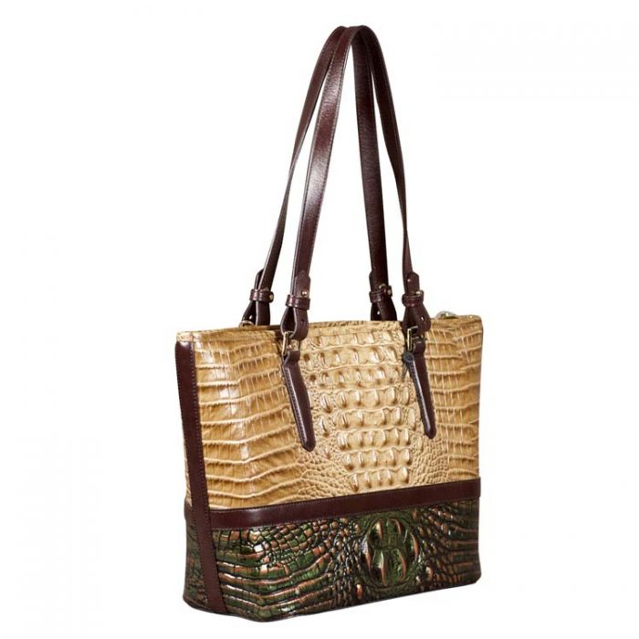 Brahmin Medium Asher Tote in Riviera Kingfisher at Luxe Purses