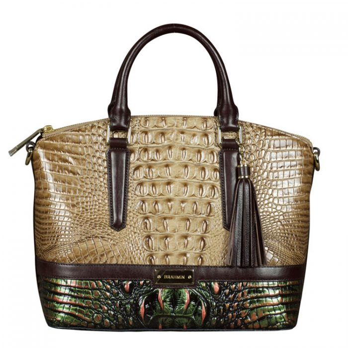 Brahmin Duxbury Satchel in Riviera Kingfisher for sale at Luxe Purses