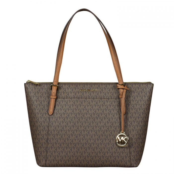 Michael Kors Large Ciara Top Zip Tote in Brown for sale at Luxe Purses