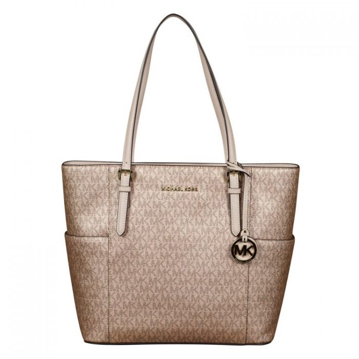 Michael Kors Large Tote in Soft Pink Rose Gold for sale at Luxe Purses