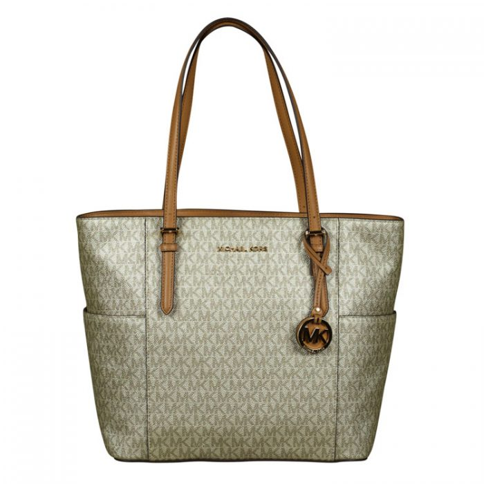 Michael Kors Large Tote in Acorn Pale Gold for sale at Luxe Purses