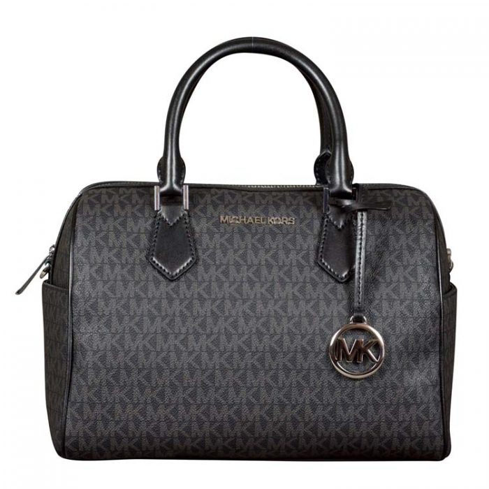 Michael Kors Large Bedford Duffle Satchel in Black at Luxe Purses