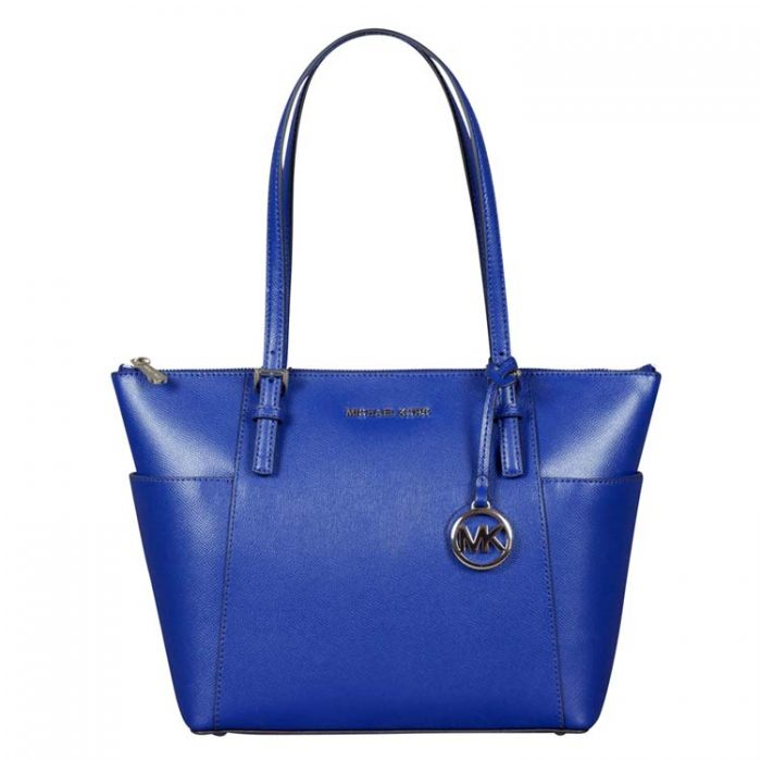 Michael Kors Jet Set EW Top Zip Tote in Sapphire at Luxe Purses