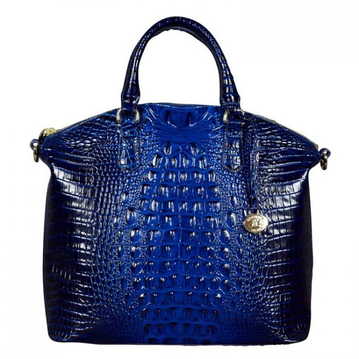 Brahmin Large Duxbury Satchel in Sapphire Melbourne for sale at Luxe Purses