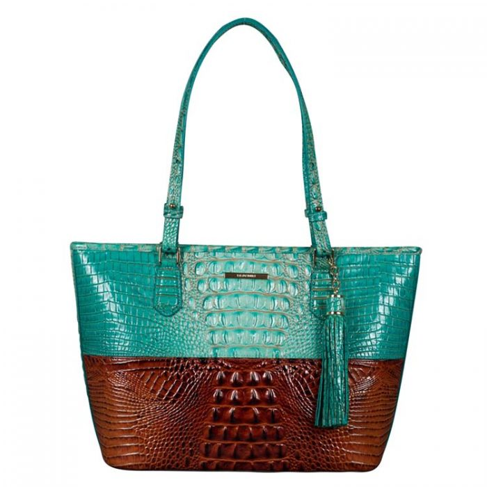 Brahmin Medium Asher Tote in Turquoise Paraty at Luxe Purses