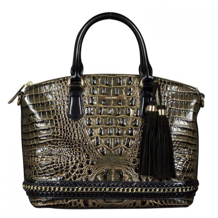 Brahmin Duxbury Satchel in Graphic Aster at Luxe Purses