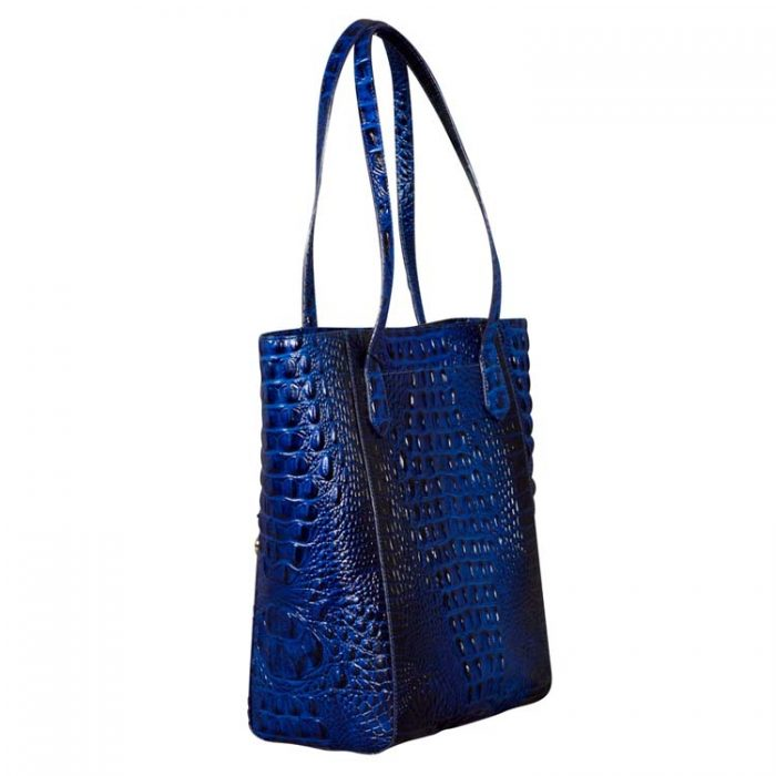 Brahmin Large Jayden Tote in Sapphire Melbourne at Luxe Purses