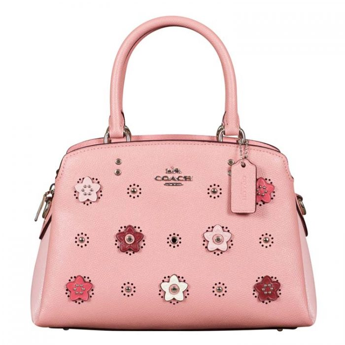 Coach Daisy Applique Mini Lillie Carryall in Light Blush at Luxe Purses