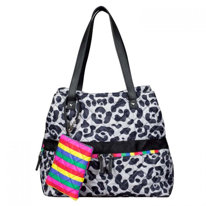 Betsey Johnson Leopard Print Tote with Wristlet