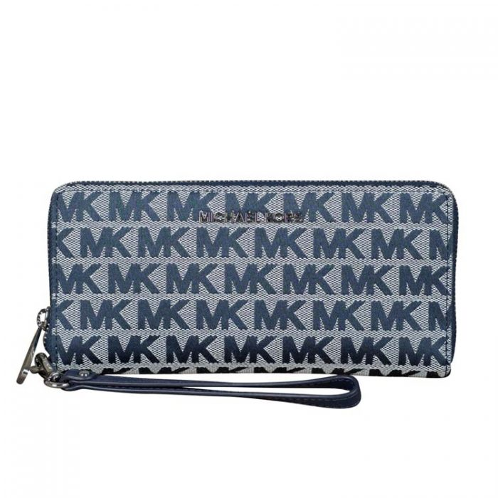 Michael Kors Large Travel Continental Wallet in Navy